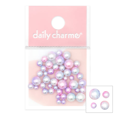 Dreamy Unicorn Round Pearls Nail Art Decorations