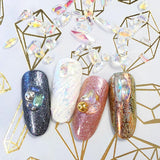 Nail Art Decor Transparent AB Pointed Resin Crystal Gems / Mix