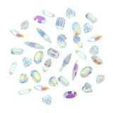 Dreamy AB Transparent Pointed Resin Crystal Gems Mix / Icy Blue Nail Art Glitter