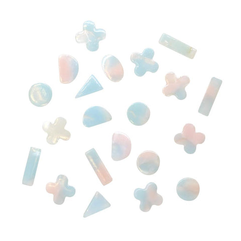 Daily Charme Nail Supply Japanese Nail Art Resin Gemstone Mix / Pastel