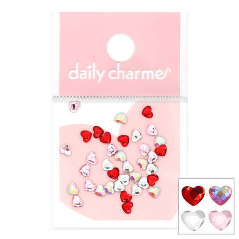 Daily Charme Lovely Hearts Crystal Mix Nail Crystals Valentines Nail
