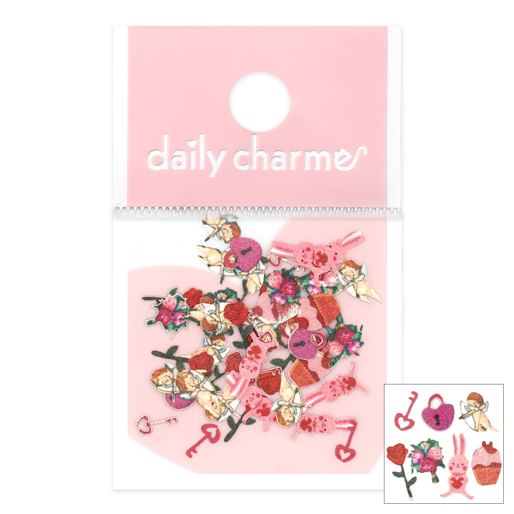 Daily Charme Valentine Soft Paper Glitter / Be My Cupid Vday Nails