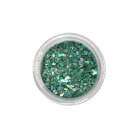 Capri Crushed Shell / Green Japanese Nail Art Decorations