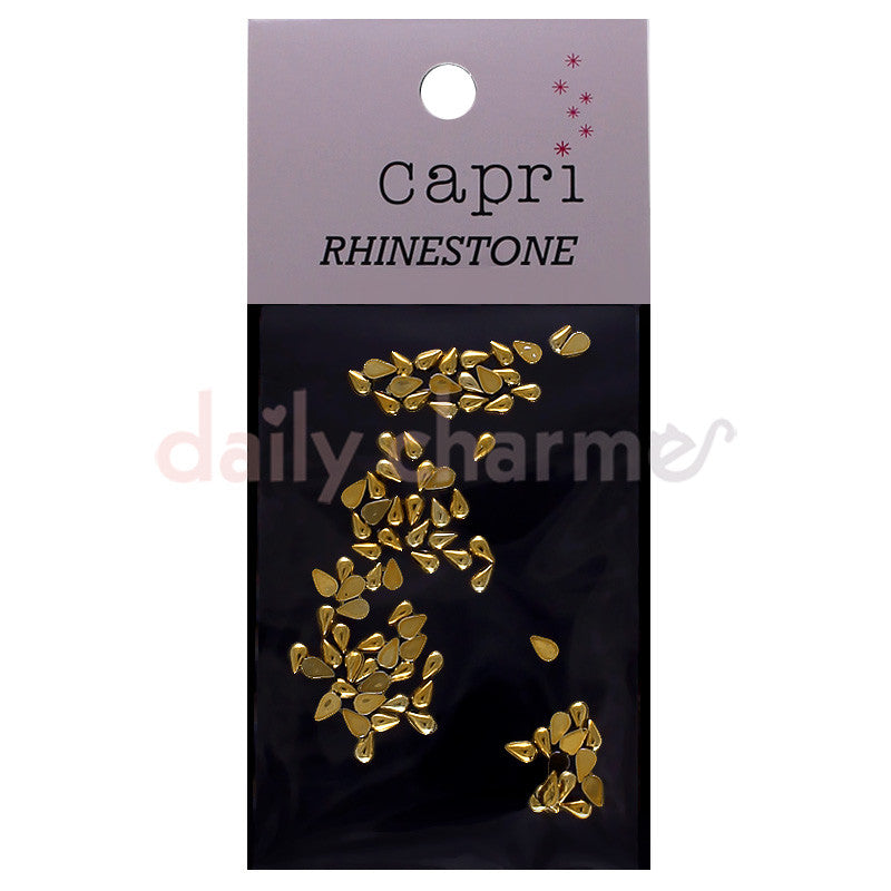 Daily Charme Japanese Nail Art Supply Capri Acrylic Rhinestones / Drop / Gold