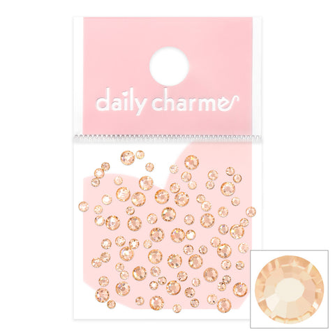 Charme Crystal Round Flatback Light Peach Silk Beige Nail Art