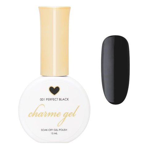 Charme Gel Polish / 001 Perfect Black