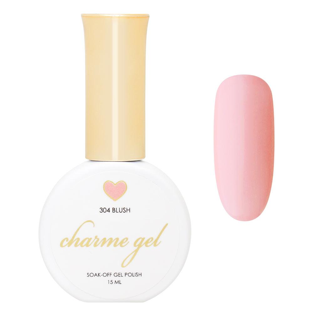 Charme Gel Polish / 304 Blush Soft Warm Pink
