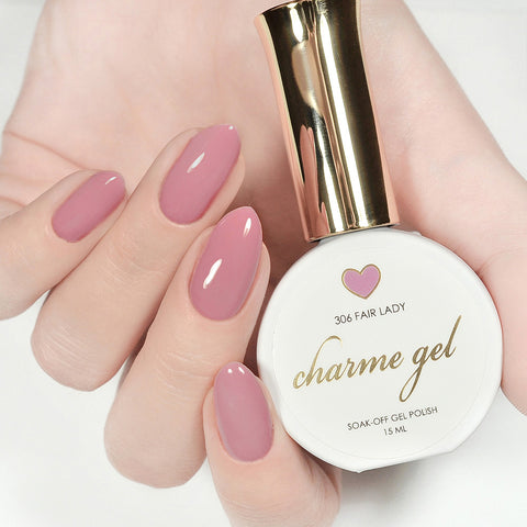 Charme Gel Polish / 306 Fair Lady Mauve Pink