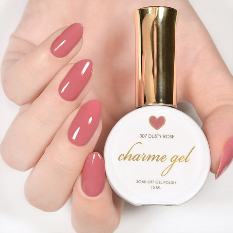Charme Gel Polish / 307 Dusty Rose Mauve Pink
