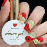 Charme Gel Polish / 403 True Love Classy Red Summer Watermelon Nail Art