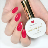 Charme Gel Polish / 404 Cherry Lips Red Ruby Nails
