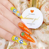 Charme Gel Polish / 501 Sunburst Bright Orange Summer Nails