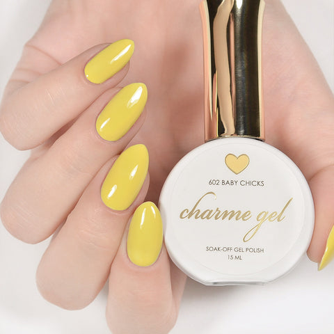 Charme Gel Polish / 602 Baby Chicks Pastel Yellow