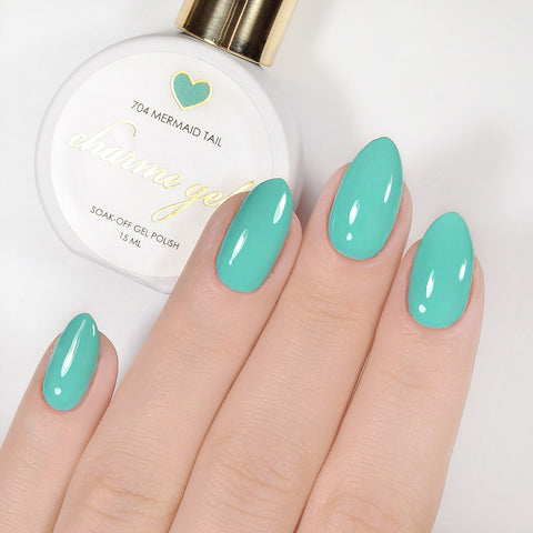 Charme Gel Polish / 704 Mermaid Tail Teal Turquoise Blue