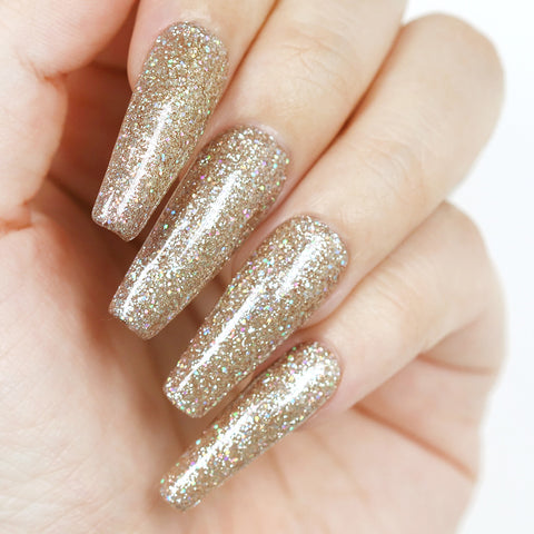 Charme Gel / Holographic H01 Chandelier Glitter Bottle Nail Polish