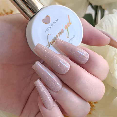 Charme Gel / Holographic H85 Whimsical Pink Neutral Polish