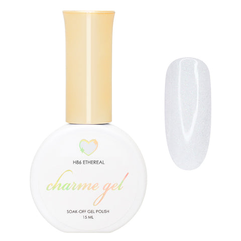 Charme Gel / Holographic H86 Ethereal Off White Shimmer Nail Polish