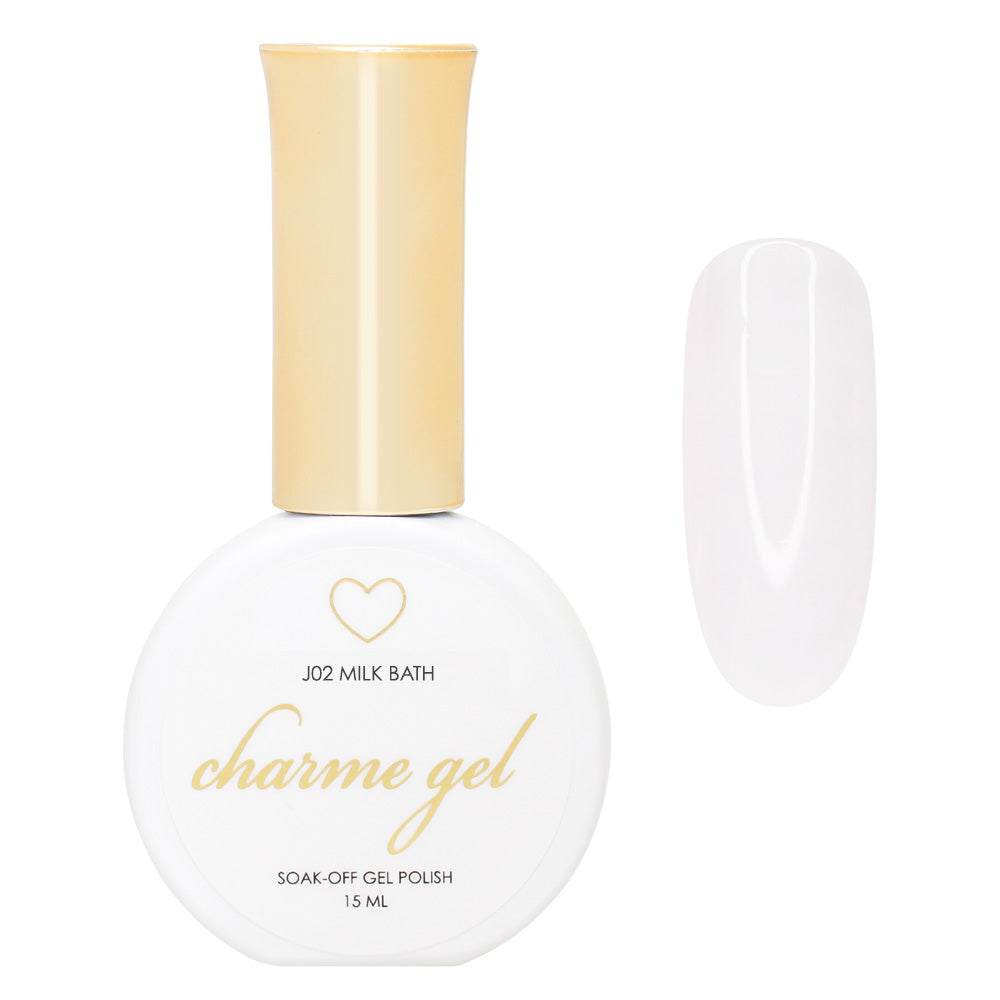 Charme Gel / Jelly J02 Milk Bath Sheer White Dry Flower Nail Art