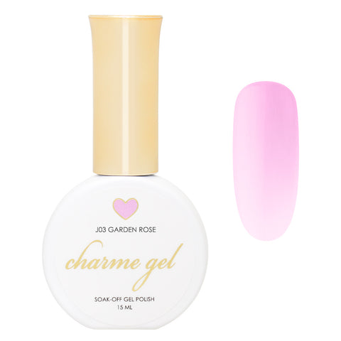 Charme Gel / Jelly J03 Garden Rose Pastel Sheer Pink Nail