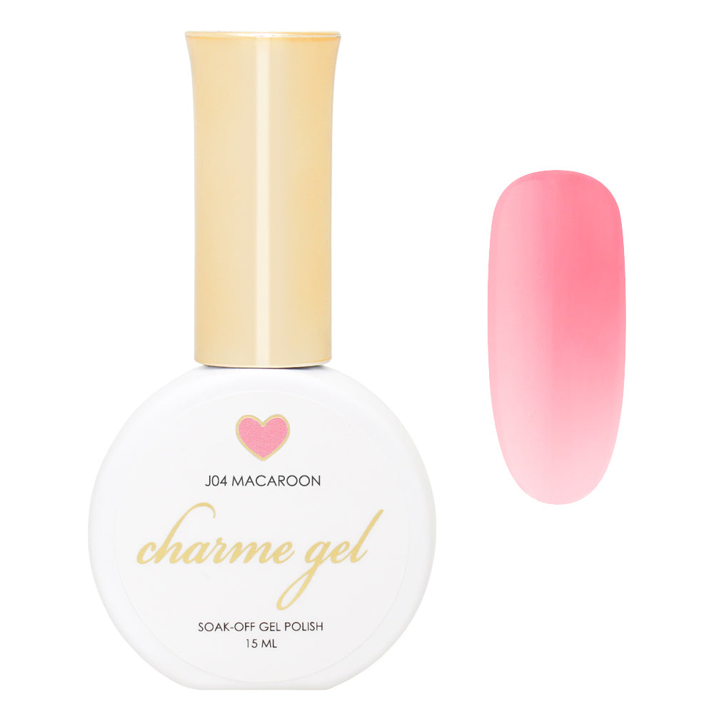 Charme Gel / Jelly J04 Macaroon Sheer Tinted Pink Nail color