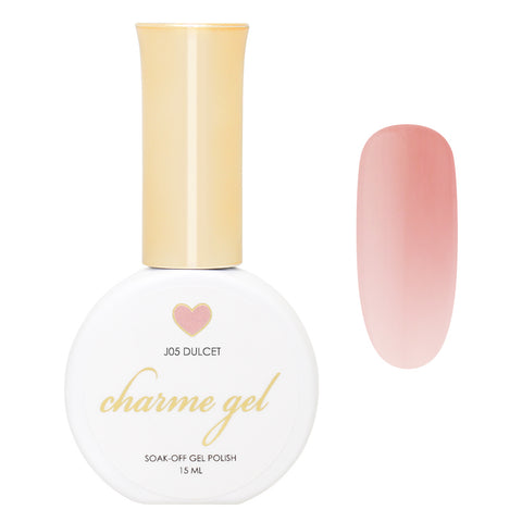 Charme Gel / Jelly J05 Dulcet Sheer Pink Beige Neutral Nail