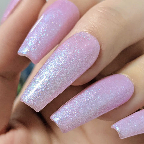 Charme Gel / Shimmer S84 Starlight Pink Iridescent Shimmer Flake Galaxy