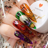 Charme Gel / Tinted Glass T04 Cosmopolitan Transparent Halloween Nails