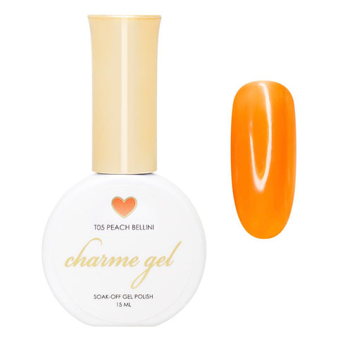 Charme Gel / Tinted Glass T05 Peach Bellini Transparent Gelly Orange