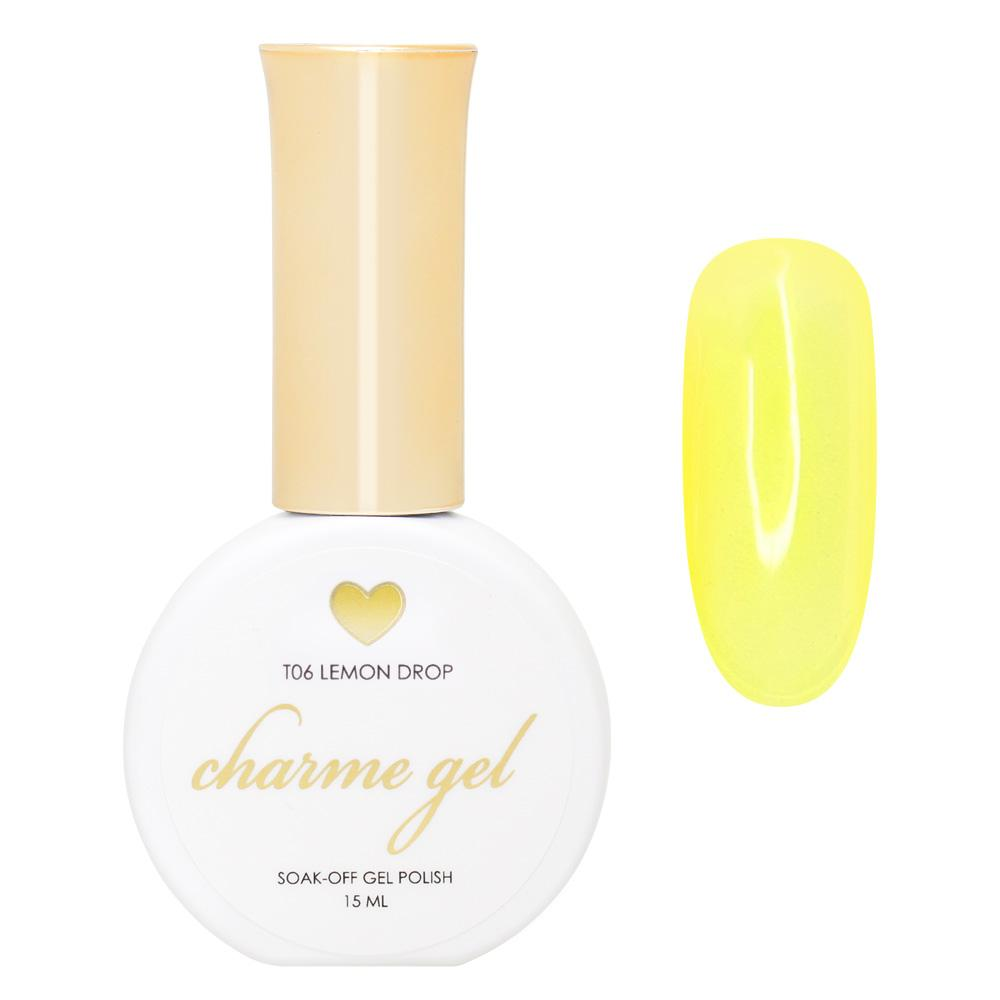 Charme Gel / Tinted Glass T06 Lemon Drop Transparent Sheer Yellow