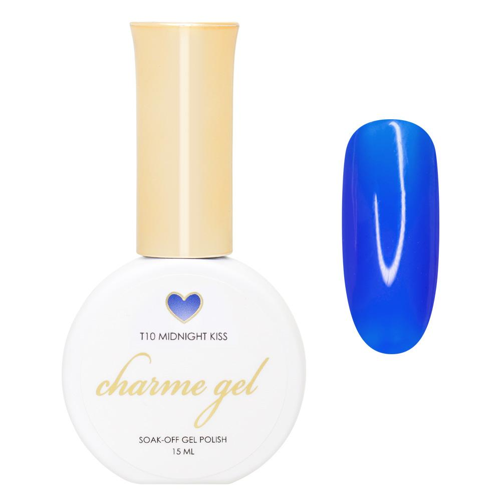 Charme Gel / Tinted Glass T10 Midnight Kiss Transparent Blue Nail Polish
