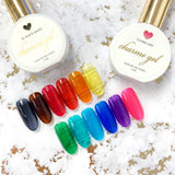 Charme Gel / Tinted Glass T10 Midnight Kiss Transparent Royal Blue Nail Polish