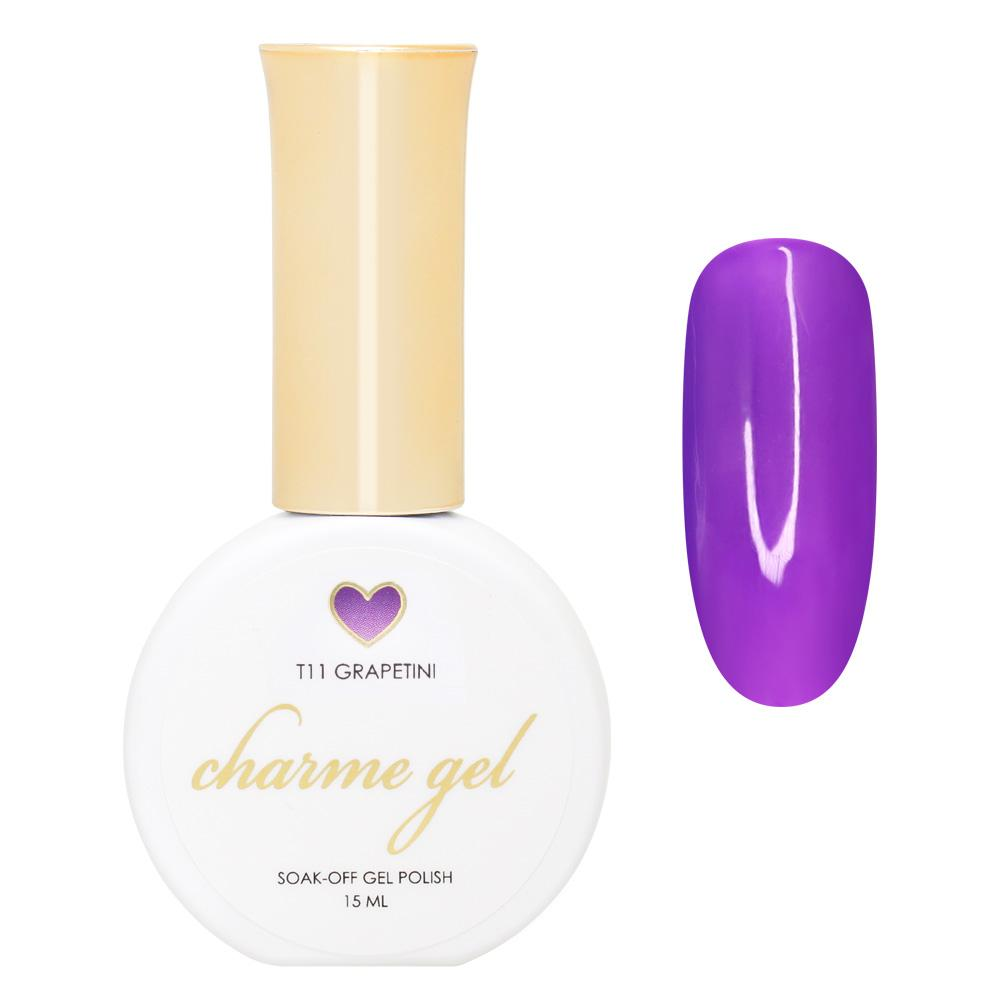 Charme Gel / Tinted Glass T11 Grapetini Transparent Clear Purple Nails