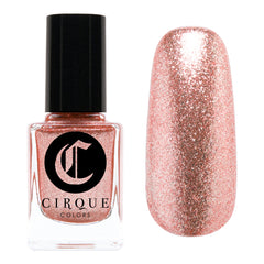Daily Charme Nail Art Supply Cirque Colors Halcyon Holiday Limited Edition Roes Gold Glitter Nail Polish