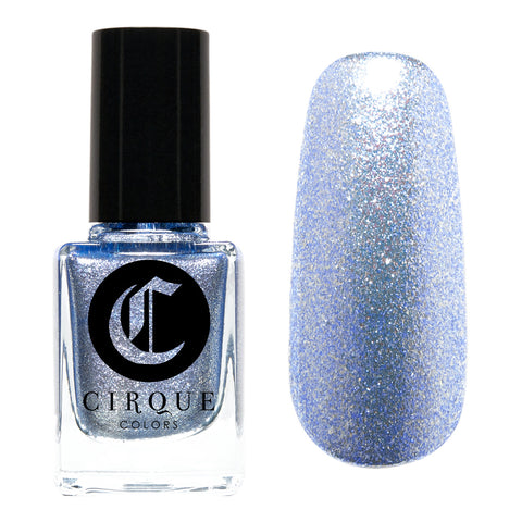 Daily Charme Nail Art Supply Cirque Colors Idyllic Holiday Limited Edition Icy Blue Glitter Nail Polish