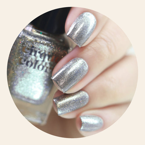Cirque Colors / Shiny Holographic Silver Nail Polish