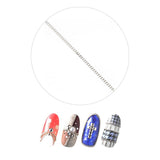 Daily Charme Japanese Nail Art Clou Metal Chains Thin 1mm Silver