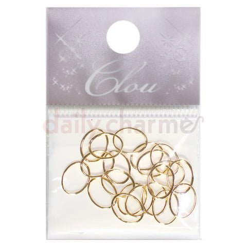 Daily Charme Japanese Nail Art Clou Creative Frame / Oval 6x8mm / Gold
