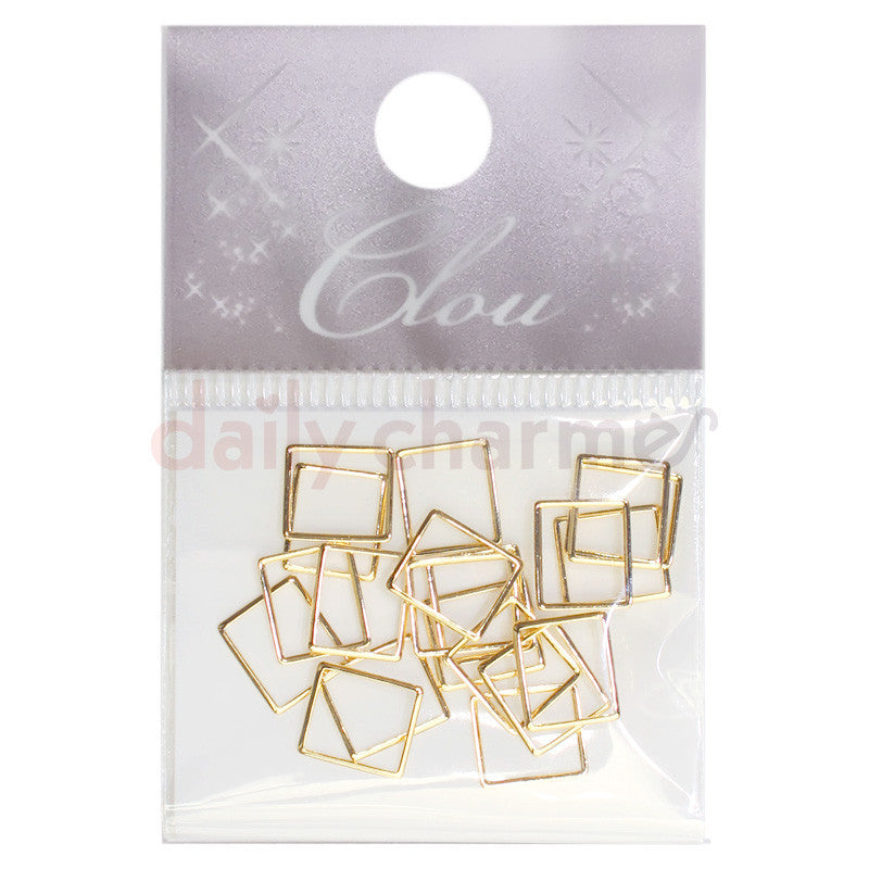 Daily Charme Japanese Nail Art Clou Creative Frame / Rectangle / Gold
