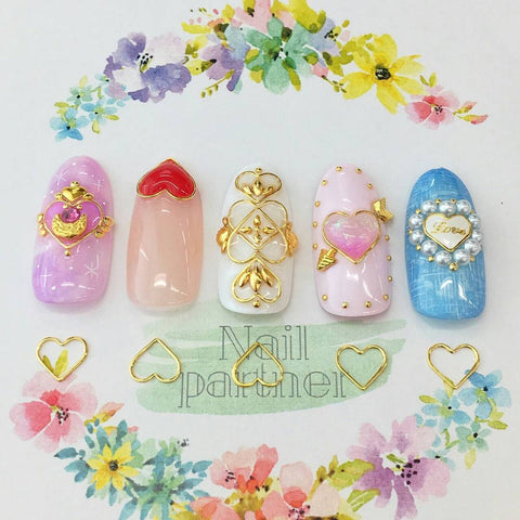 Clou Heart Frames / Gold Japanese Nail Art Stud Decorations