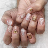 Daily Charme Japanese Nail Art Clou Studs / Skinny Diamond / Gold