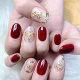 Clou Studs / Flower HAU / Gold Japanese Nail Art