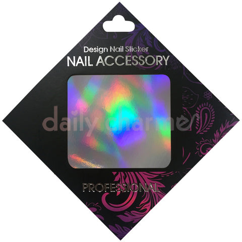 Daily Charme Nail Supply Clou Japanese Nail Art Foil / Holographic Silver