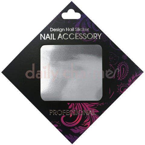 Daily Charme Nail Supply Clou Japanese Nail Art Foil / Silver