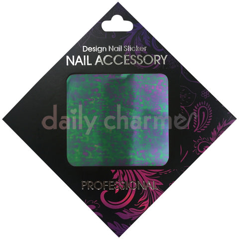 Daily Charme Nail Supply Clou Japanese Nail Art Foil / Purple Camo