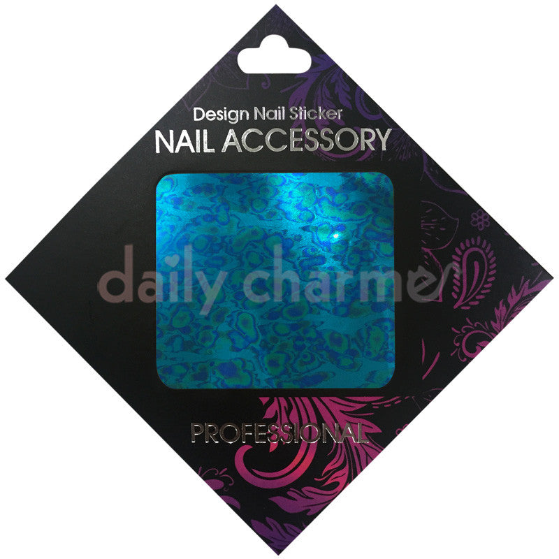 Daily Charme Nail Supply Clou Japanese Nail Art Foil / Blue Camo