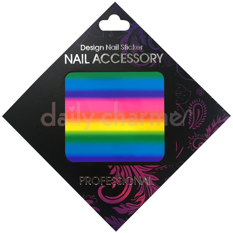 Daily Charme Nail Supply Clou Japanese Nail Art Foil / Rainbow