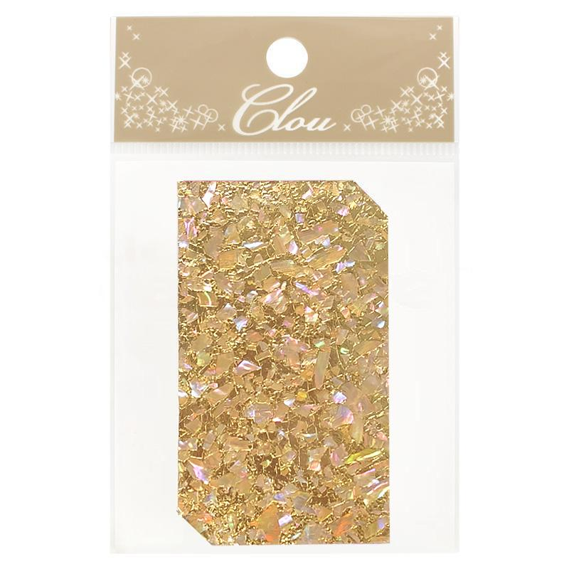 Clou Shell Sheet Sticker / Glitter Gold Japanese Nail Art