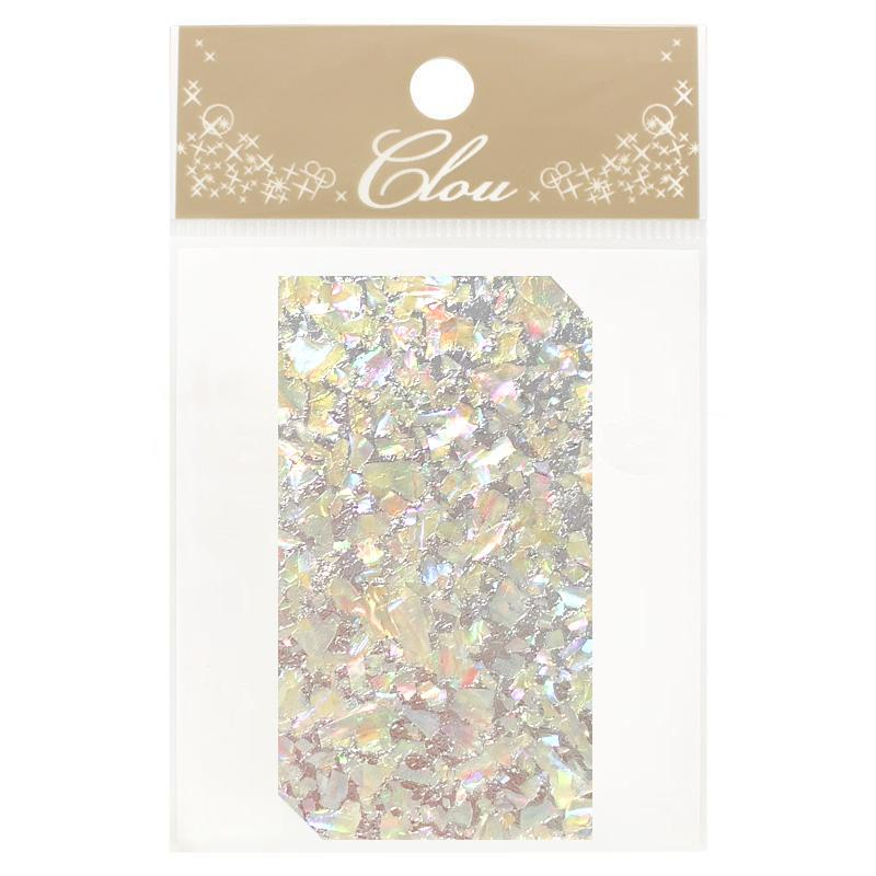 Clou Shell Sheet Sticker / Glittery Silver Japanese Nail Art Supplies