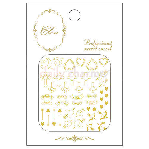 Clou Japanese Nail Art Sticker / Girly Heaven / Gold Foil