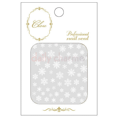 Daily Charme Nail Art StickersClou Japanese Nail Art Sticker / Eternal Snow / White